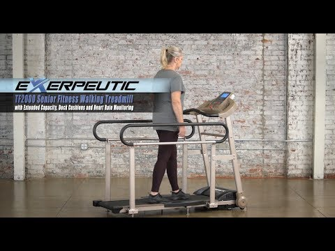 4001 - Exerpeutic TF2000 Senior Fitness Walking Treadmill with Extended Capacity