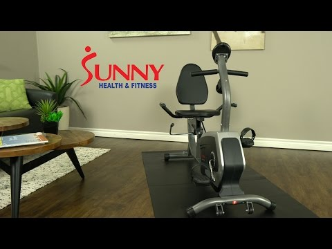 Sunny Health & Fitness SF-RB4616 Easy Adjustable Seat Recumbent Bike