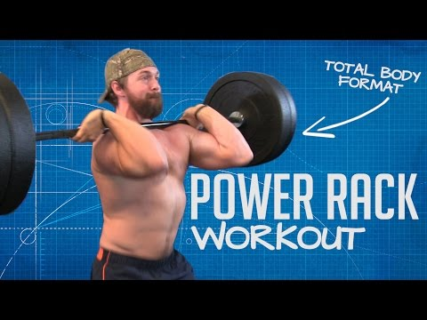 Power Rack Workout Routine [4 Exercises | Full-Body Training]