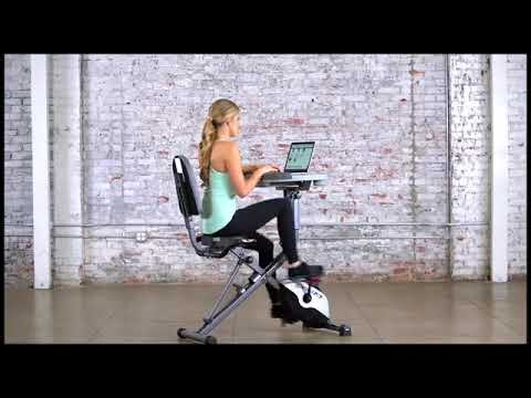 Exerpeutic WorkFit 1000 Fully Adjustable Desk Folding Exercise Bike with Pulse Review [wirybody.com]