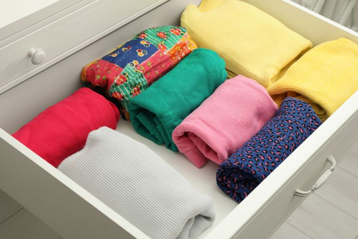 folded and organized clothes