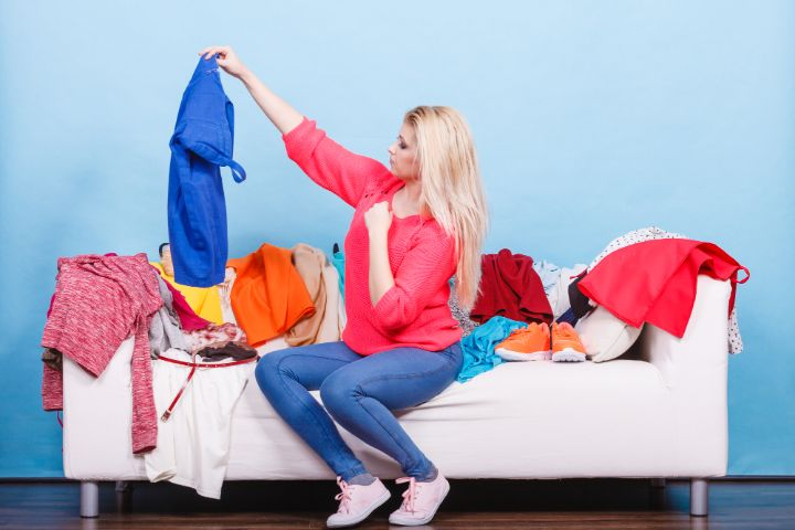 Organizing workout clothes